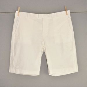BANANA REPUBLIC NEW White Tailored Cotton Shorts